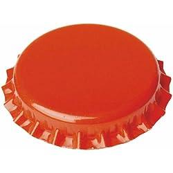 Chapas de 26mm para botellas normales, Naranjas - 100 unid