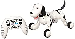 SainSmart Jr. Elektro RC Intelligenter Hund, Wireless Interactive Welpe, Kinderspielzeug Tanzen-Roboter-Haustier, Schwarz