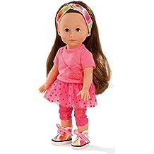 Götz Puppe Just Like Me Chloe – Kleine Stehpuppe von 27 cm, braunes, extra langes Haar, Blaue Schlafaugen, Spielzeug für Mädchen ab 3 Jahren (7-teiliges Set)