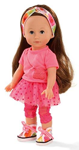 Götz 1513014 Just like me - Chloe - 27 cm große Stehpuppe mit extra langen braunen Haaren und blauen Schlafaugen - für Kinder ab 3 Jahren
