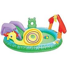 Piscinas para NiñOs Inflables con TobogáN Familia Hinchables Juegos Juguetes Jardin PequeñOs Profundidad 211x155x81cm