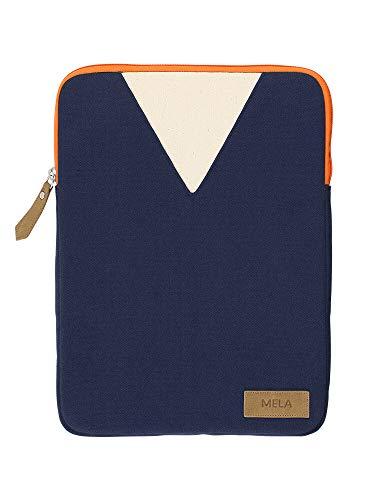 Canvas Laptop Sleeve (MELAWEAR Mela Laptop Sleeve 13 Zoll aus Bio Baumwoll Canvas - Hergestellt aus 100% nachhaltigen Materialien - GOTS & Fairtrade, Farben Laptop-Taschen:blau/orange, Größe Laptop-Taschen:13 Zoll)