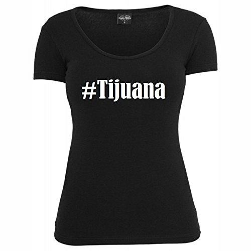 T-Shirt #Tijuana Hashtag Raute für Damen Herren und Kinder ... in den Farben Schwarz und Weiss Schwarz
