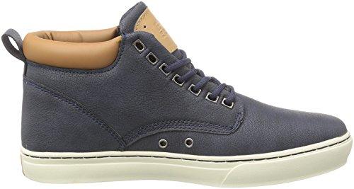 British Knights Wood, Baskets hautes homme Bleu - Blau (Navy-Cognac 04)