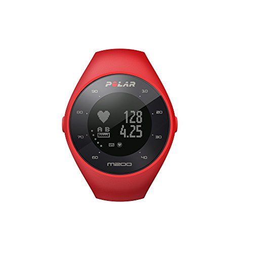 Polar M200 GPS Heart Rate Monitor, Unisex, Red, M / L