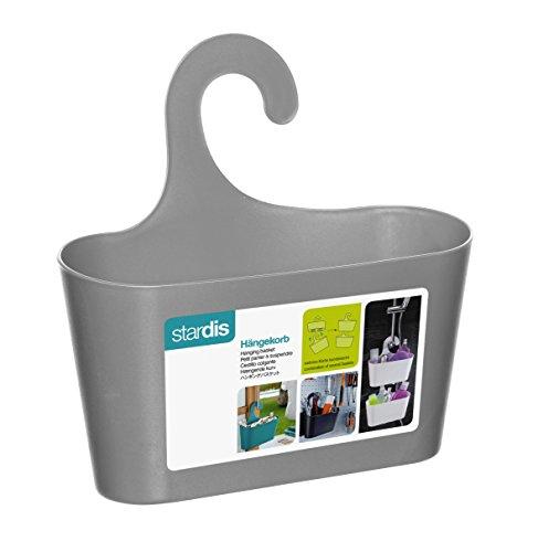 Stardis portaoggetti da doccia con gancio per appenderlo, mensola per doccia o bagno, accessorio per il bagno