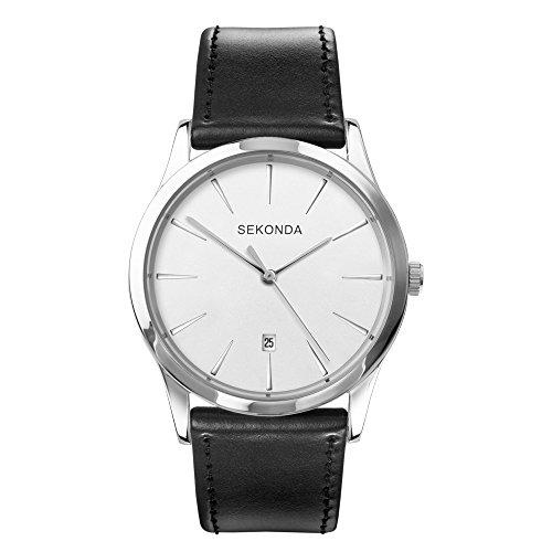 Sekonda Herren Datum klassisch Quarz Uhr mit PU Armband 1560.27