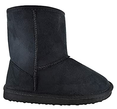 71b8509f9a49 Dhothar Shoes UK Kids Girls Winter Warm HUGG Snugg Ankle Children Fur Lined Snow  Boots Size 10-2  Amazon.co.uk  Shoes   Bags