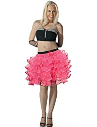 Crazy Chick Ladies 5 Layer Tutu Skirts With Ribbon Hen Night Dance Party Fancy Dress