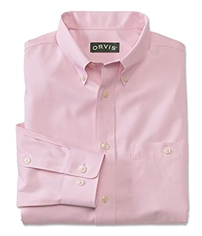 Orvis Pure Cotton Wrinkle-free Pinpoint Oxford Long-sleeved Shirt, Pink, Xx