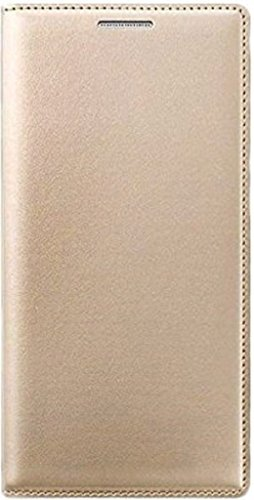 AVICA Premium Leather Flip Case Cover For Gionee P7 Max- GOLD