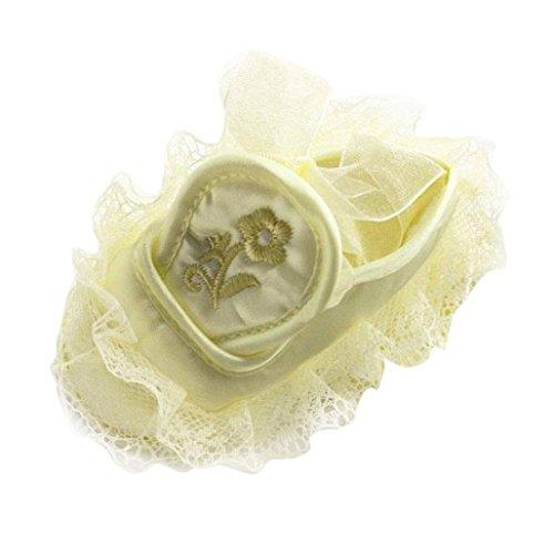 Für 0-18Monate, Türkei Baby Mädchen Rutschfeste Floral Stickerei Rüschen Spitze Kleinkinder Schuhe 0-6M gelb