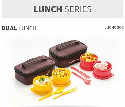 Generic varmora Dual Lunch Tiffin Box für Fresh Food enthalten lunch0002 (Backpulver Container)