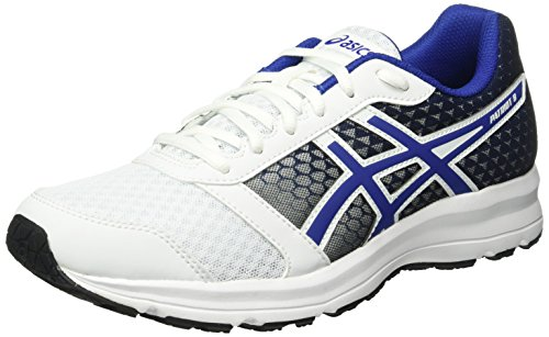 Asics Men's Patriot 8 Running Shoes, Multicolor (White/Asics Blue/Black), 9 UK