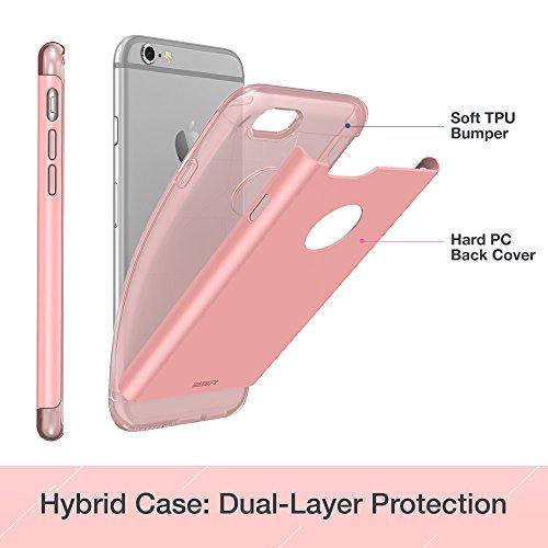 iPhone 6S Plus / 6 Plus Hülle (5,5 Zoll), ESR® Hybrid Hülle, Hart PC + Weiche Silikon TPU Bumper Stoßdämpfung Kratzfeste Schutzhülle für iPhone 6/6S Plus (Schwarz) Rosa