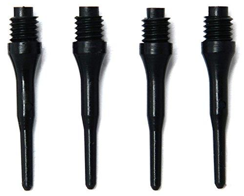 OLYMPOO - 1000 Stk.Profi Dartspitzen Kunststoff für elektronische Dartscheibe - 2ba klein Gewinde - Dartpfeile spitzen aus Plastik (Black)