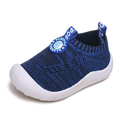 WEXCV Baby Jungen Mädchen Unisex Atmungsaktiv Socken Schuhe Kinder Freizeitschuhe Frühling Herbst Weiche Sohl Schuhe Netzoberfläche Stilvoll Krabbelschuhe