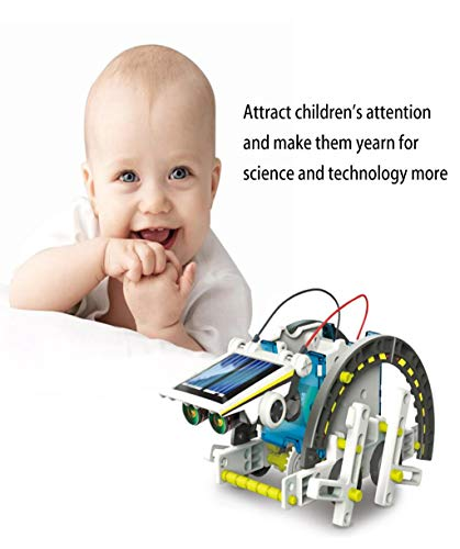Vaycally DIY Gebäude Roboter Kit, umweltfreundliche Puzzle Solar Roboter BAU Gebäude Spielzeug Set, pädagogische 13-in-1 assmebled Spielzeug Modell für Kinder Alter 8+ -