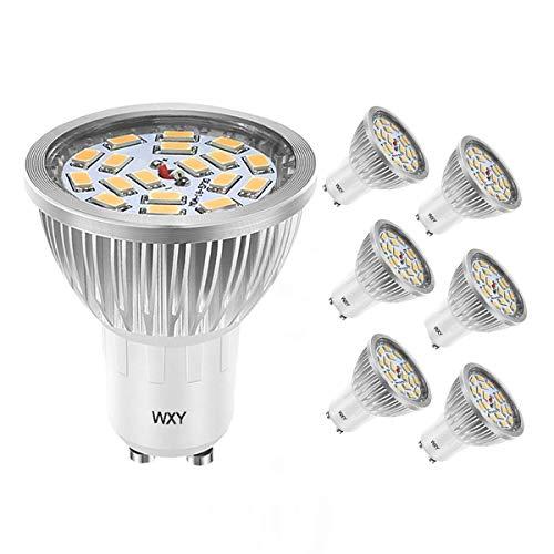 en, 50W Halogenbirnenäquivalent, 3200K warmweiß, 140 ° Abstrahlwinkel, superhelles Licht LED 18 * 5730 SMD, Wechselstrom 85-265V, 600lm LED Glühlampen, nicht dimmbar 6er Pack ()