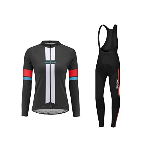 Uglyfrog 2019 Sport im Freien Klassik Vlies Fahrradtrikot Winter Damen Thermo Langarmtrikot Radfahren Jersey Triathlon Bekleidung -