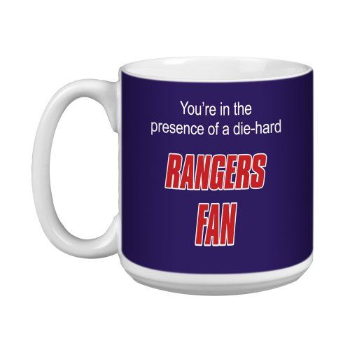 Tree-Free Greetings XM28187 Rangers Hockey Fan Kunstvolle Jumbo-Tasse, 570 ml -