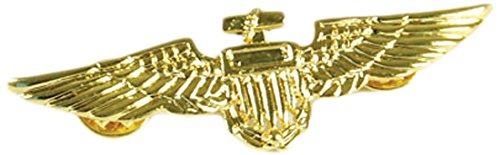 7Aviator Pin, Metall/Gold, One Size (News-halloween-kostüme)