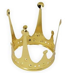Krone Gold, elegant, Metallkrone, Krönchen, Prinzessinnenkrone, Märchen (Modell M)