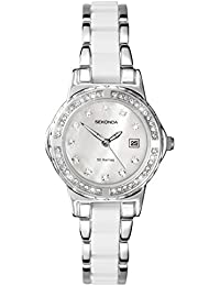 Sekonda Moonlight 4674  Pearl Ladies White Crystal Set Watch