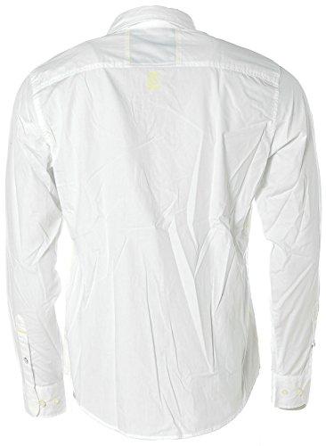 Kitaro S.TECH Herren Langarm Hemd Kentkragen -Sports Athletic Dept.- White