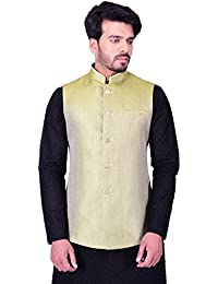 Manyavar Men's Regular Fit Waistcoat (WC00113)