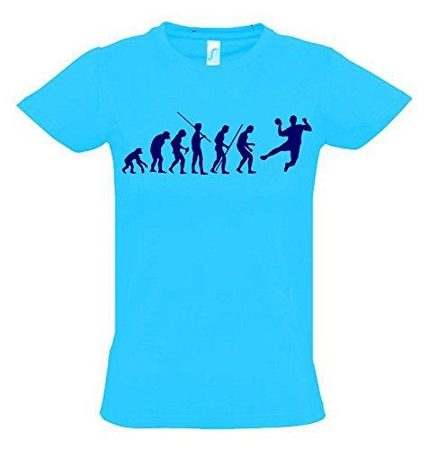 HANDBALL Evolution Kinder T-Shirt sky-navy, Gr.128cm