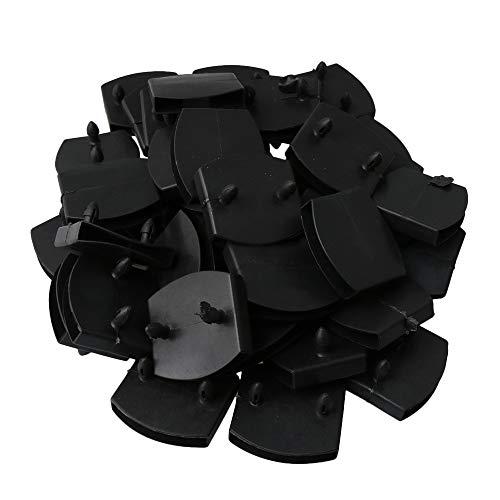 RDEXP 50 Stück Kunststoff Lattenrost Doppelende Kappen Halter Ersatz für Bettteil