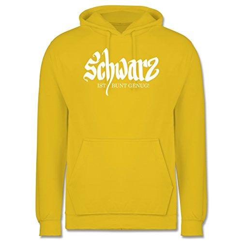 Nerds & Geeks - Schwarz ist bunt genug - Männer Premium Kapuzenpullover / Hoodie Gelb