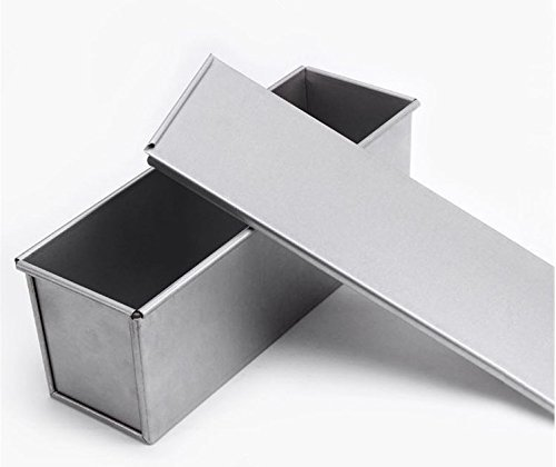 Astra Gourmet Bakeware aluminisierten Stahl Pullman Backen mit, 33x 10,2cm, Aluminiumguss & Quick-Release-Beschichtung 13 by 4-Inch silber -