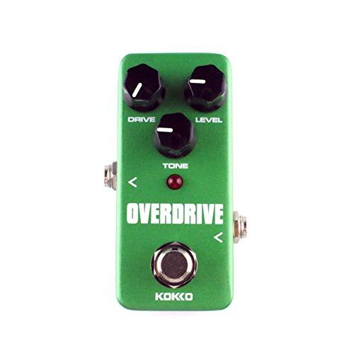 LasVogos KOKKO FOD3 Mini Overdrive Guitarra eléctrica Pedal de Efecto Sobrecarga del Tubo Stompbox