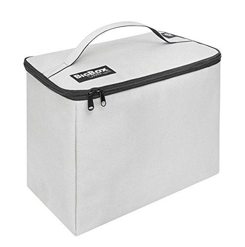 Preisvergleich Produktbild Wedo 582520 BigBox Cooler Kühltasche (Polyester, Volumen: 16.5 l, Thermo-Isolierung, 2 Reißverschlüsse) hellgrau