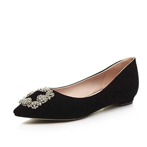 Scarpe moda/scarpe basse aguzze superficiale/Joker dolce coreana mette piede scarpe B