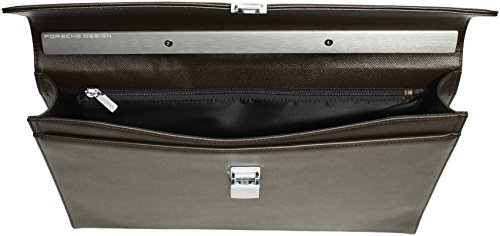 Porsche Design French Classic 3.0 FS 4090001525, Borsa a cartella Uomo Marrone (Braun (dark brown 702))