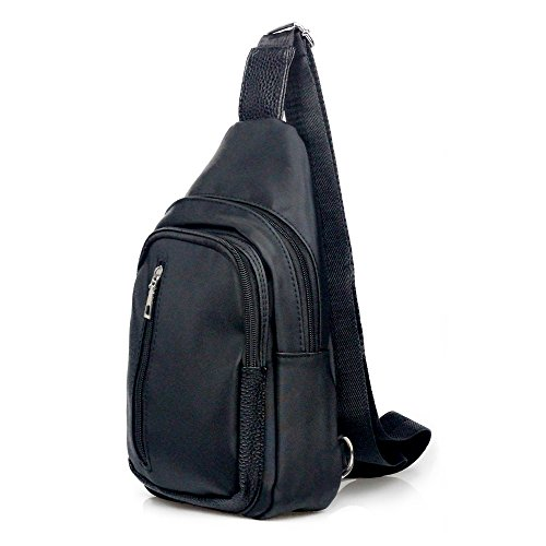Imagen de spaher impermeable  de hombro pecho bolsas de hombro plegable de bolso deportivo bolso bandolera sling crossbody messenger aire libre gimnasio ciclismo senderismo escuela bolso negro