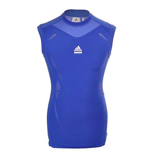 Adidas TechFit Tank blau Preparation SL XL (Laufshirt Herren Ärmelloses)