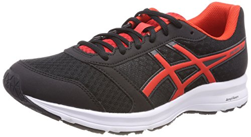 Asics Patriot 9, Zapatillas de Running para Hombre, Negro (Black/Fiery Red/White 9023), 42 EU