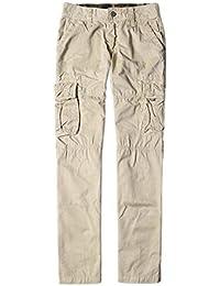 Lannister Fashion Herren Cargo Hose Arbeitshose Casual Bekleidung Baumwolle  Freizeithosen Taschen Mit Unifarben Button Trousers Hosen 13e2ce3976