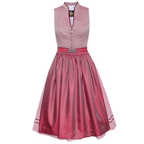 Hammerschmid Damen Trachten-Mode Midi Dirndl Tegernsee in Rosa traditionell