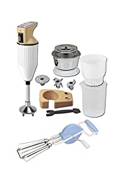 Desire 225 W Nano Delux Hand Blender (Biscuit) With Xccess Manual Egg Beater