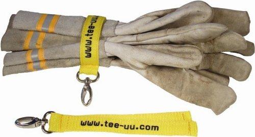 41aHBlwu%2B0L - tee-uu EASY Handschuhhalter. Endlich sind die Handschuhe sauber aufgeräumt und trotzdem sofort griffbereit. Mit großem Metall-Karabiner passend für Halteschlaufen aller Bekleidungshersteller