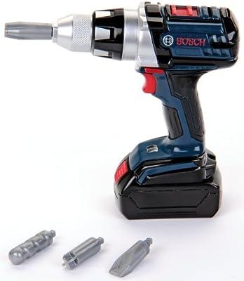 Bosch - Atornillador de acumuladores de juguete, color azul (Theo Klein 8264)