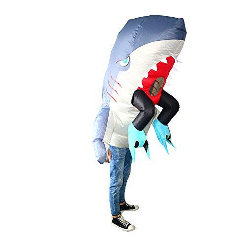 thematys Aufblasbares Hai Haifisch Kostüm - Lustiges Luftkostüm für Erwachsene 165cm-185cm - Perfekt für Karneval, Junggesellenabschied oder Halloween (Hai Kostüm Frauen)