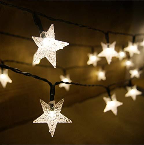 Lfchujian Solar Lichterkette Im Freien Wasserdicht, Led Garten Garten Außerhalb Lichterkette Geeignet Für Hochzeit Rasen Weihnachten Innen-Und Außendekoration7 Meter 50 Lichter - Lila