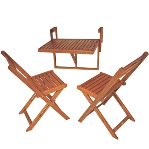 Balkon Hängetisch-Set BERKELEY Hängetisch Sitzgruppe Tischgruppe Balkonset Tisch Stuhl NEU