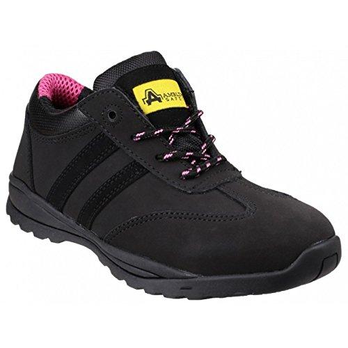 Amblers Safety Damen FS706 Sophie Safety Leder Schuhe (41 EU) (Schwarz) -